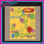 60'S HIPPY DESIGN JUTE SHOPPING LADIES GIFT BAG 003